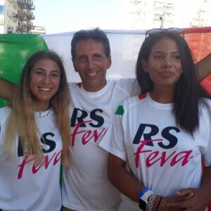 Foto di Amendola e Paul-Blake ai campionati italiani 2019 RS FEVA