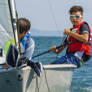 Lezioni di vela su RS FEVA in Versilia