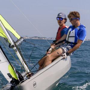 Foto lezioni di vela su RS FEVA in Versilia Toscana