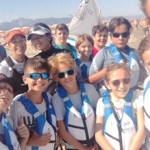 Foto dei ragazzi della Scuola vela FIV