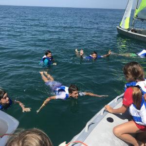 Foto lezione di vela in Versilia