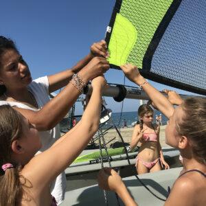 Foto lezione di vela su RS FEVA in Versilia